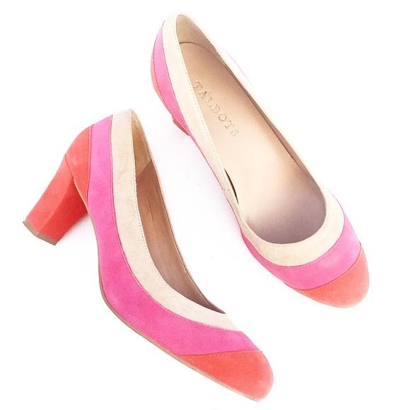 9ae5f5adea0 Talbots Suede Color Block Pumps Heels